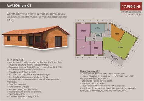 maison ossature bois medoc b 194 timents modulables syst 200 mes maison en kit bordeaux bassin d
