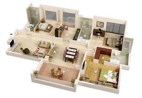 รวม 25 แบบแปลน 3 มิติ สำหรับบ้านขนาด 3 ห้องนอน Naibann
