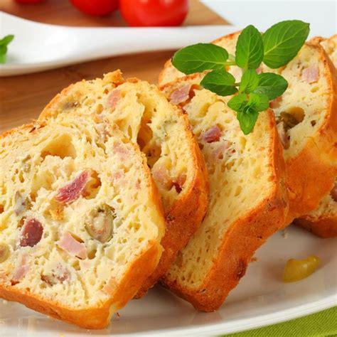cuisine minceur rapide recette cake au jambon et olives facile rapide
