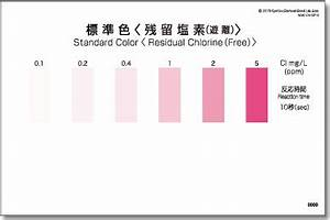 Pool Water Test Color Chart Residual Chlorine Free Packtest Products Line Up