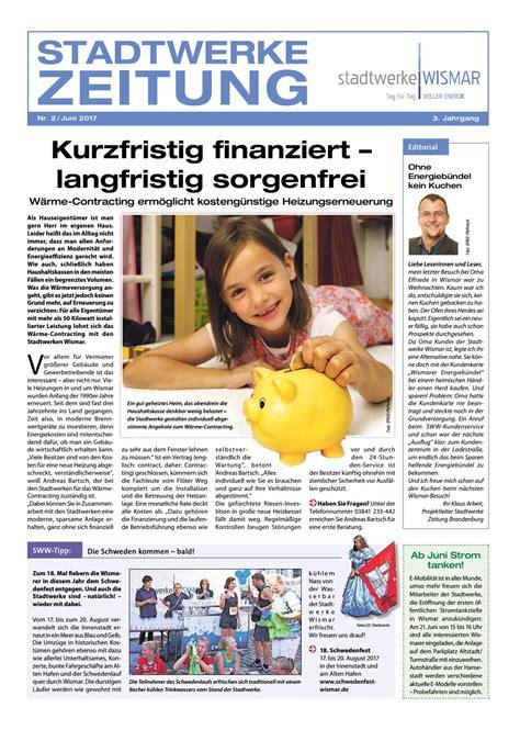 Heizung Erneuern Drei Gruende Fuer Den Heizkoerpertausch by Kundenzeitung Stadtwerke Wismar 2 2017 By Stadtwerke