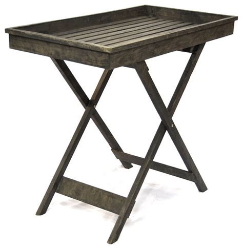 wooden display table farmhouse outdoor side tables