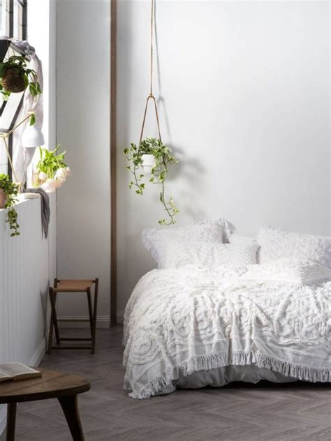Linen Bedcovers by Somers White Bed Cover