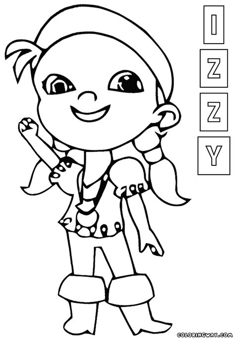 izzy  pirate coloring pages coloring pages    print