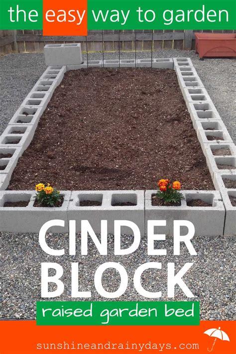 build  cinder block raised garden bed sunshine