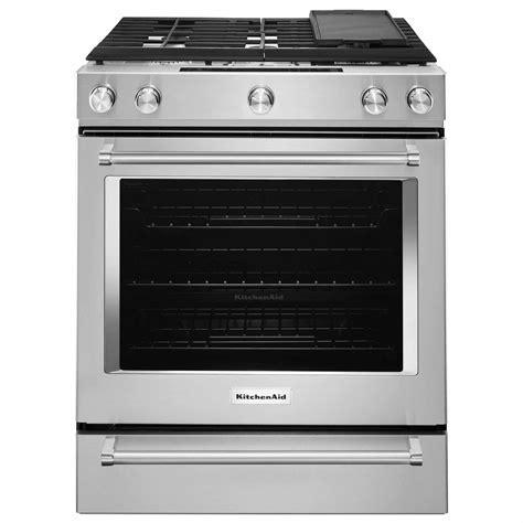 kitchen aid range kitchenaid ksdb900ess 7 1 cu ft 5 burner dual fuel