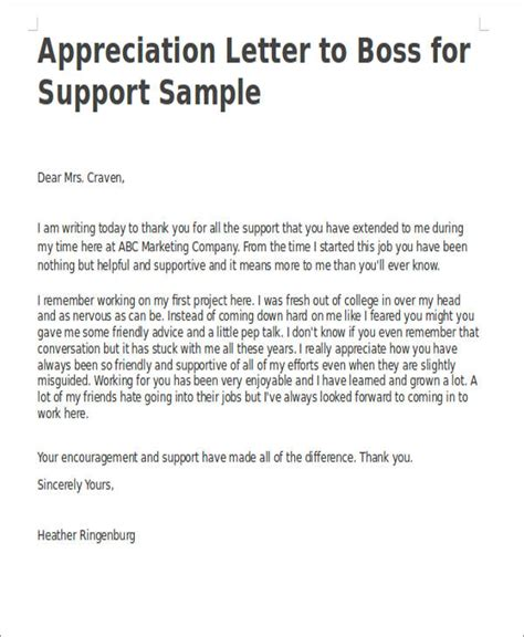 appreciation letter samples  word pages google