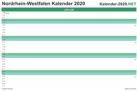 kalender nordrhein westfalen