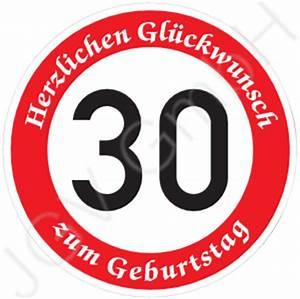 30 Dinge Zum 30 Geburtstag : verkehrsschild 30 geburtstag verkehrszeichen stra enschild ~ Sanjose-hotels-ca.com Haus und Dekorationen