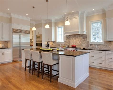 Brown Granite Countertops by White Kitchen With Brown Granite Countertops
