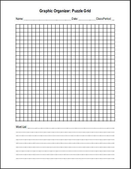 printable blank word search puzzle grid  teachers