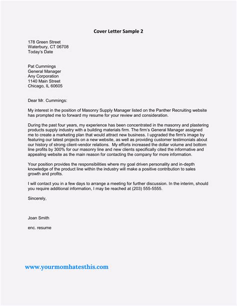 Resident Manager Cover Letter by Cover Letter Sles