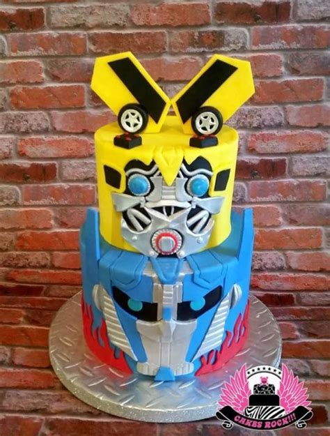 transformers bumblebee optimus prime cake transformers