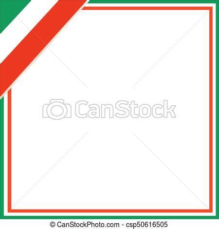 cornice tricolore cornice quadrato corner bandiera italiano quadrato