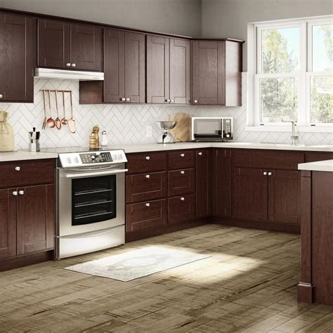 java cabinets kitchen princeton base cabinets in java kitchen the home depot 2044