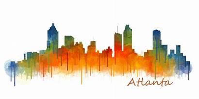 Skyline Atlanta Shower Curtain Transparent Hq V2