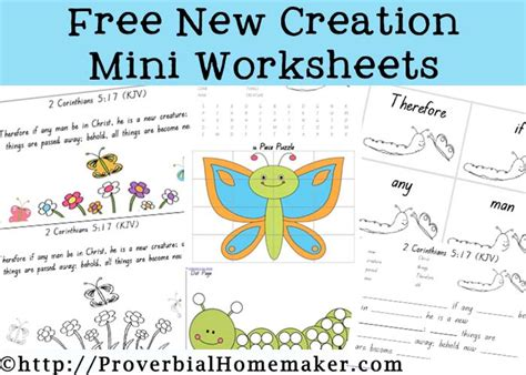 free printable new creation activities 53 pages 312 | New Creation Worksheets