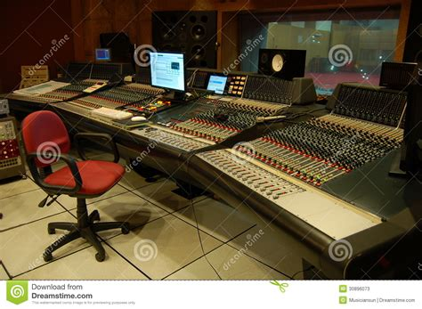 The Control Room Of A Professional Music Recording Studio