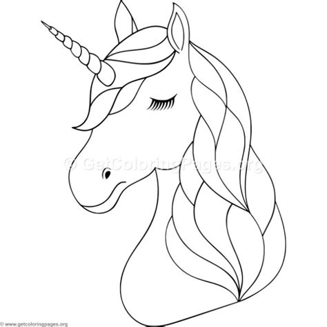 unicorn head coloring pages getcoloringpagesorg party