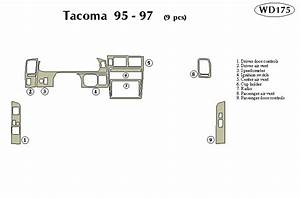 Toyota Tacoma 1995 1996 1997 Dash Trim Kit
