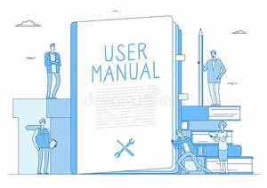 User Manual Concept  People With Guide Instruction Or