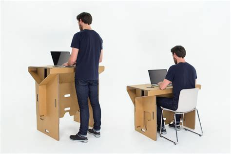 chaise assis debout refold cardboard standing desk changes the way you work