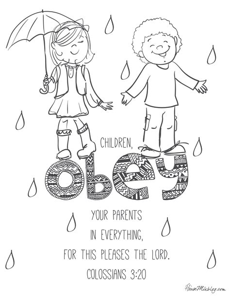 Obey God Coloring Page Bible Pages On Obedience