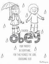 Parents Obey Coloring Children Vector Getdrawings sketch template