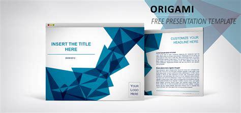 page de garde moderne origami mod 232 le pour powerpoint et impress