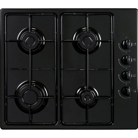 plaque cuisine gaz plaque de cuisson gaz 4 foyers noir frionor ggnofri 2 leroy merlin