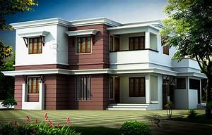 1748, Square, Feet, Flat, Roof, Style, Home, Design