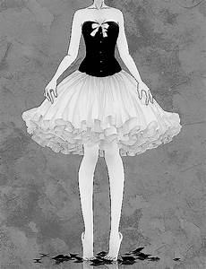 anime dress skirt ballerina monochrome Anime girl anime ...