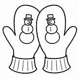Mittens Coloring Mitten Pages Season Snowy Gloves Drawing Easy Lesson Getdrawings sketch template