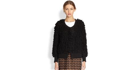 A Detacher Fluffy Cardigan In Black