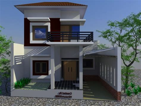 lihat konsep gambar rumah dua tingkat minimalis mewah
