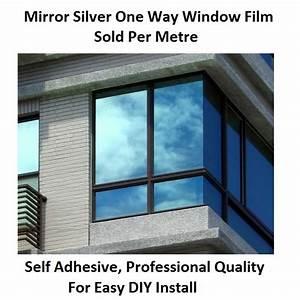 One Way Film : one way window film privacy vision mirror reflective glass mirrored silver 51cm ~ Frokenaadalensverden.com Haus und Dekorationen