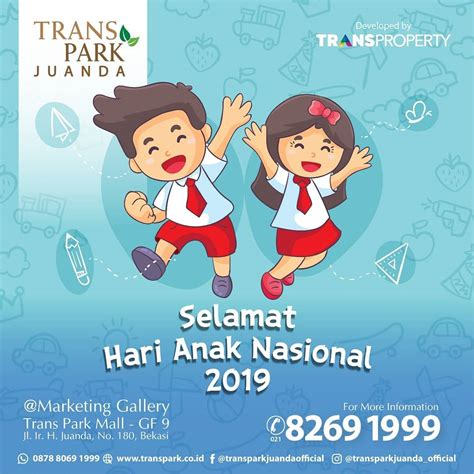 transpark official selamat hari anak nasional 2019