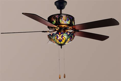 tiffany style ceiling fans with lights tiffany style 52 quot halston double lit stained glass ceiling