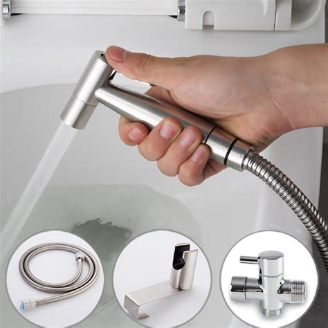 Handheld Bidet Sprayer Set For Toilets - handheld toilet bidet sprayer set kit stainless steel