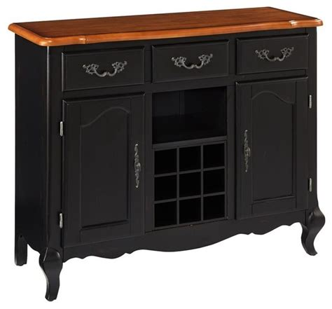 Black Sideboards And Buffets by Oak And Rubbed Black Buffet Traditional Buffets And