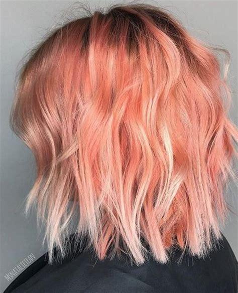 Aside From Peach Makeup Peach Hair Has Been Trending A