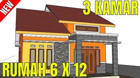 desain rumah minimalis sederhana    meter  kamar