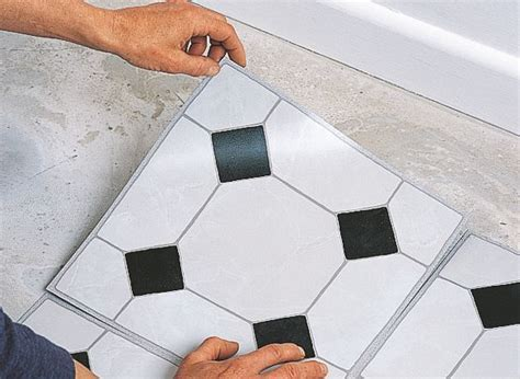 Black And White Vinyl Floor Tiles Self Stick Uk   Tile