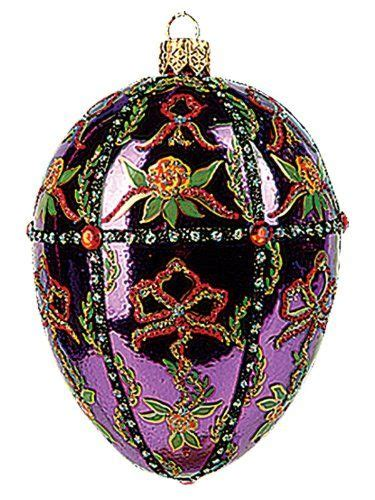 purple faberge easter eggs faberge style egg ornaments