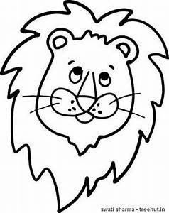 Lion Coloring Pages Set 1 - TreeHut.in