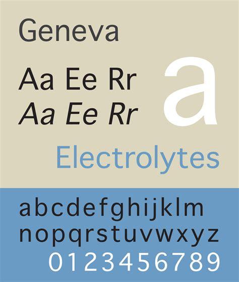 geneva typeface wikipedia
