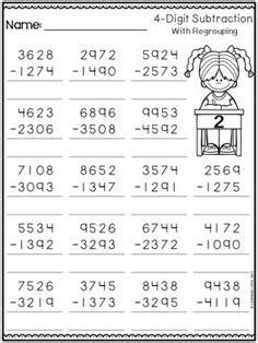 partition  digit numbers worksheet  printables