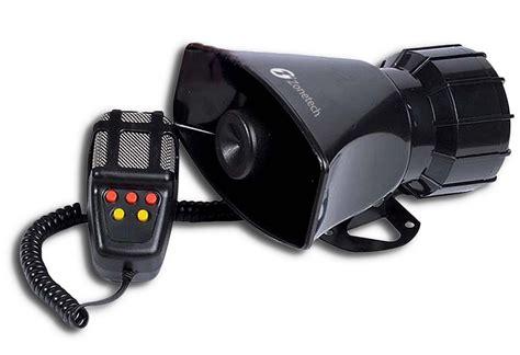 Zone Tech 5 Sound Loud Car Warning Alarm Police Fire Siren
