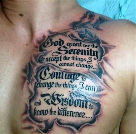 serenity prayer tattoo designs  men uplifting ideas
