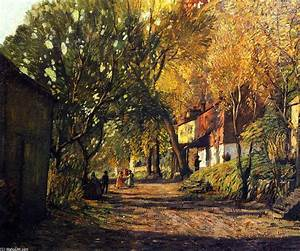 A Lane in New Hope, Oil On Panel by Rae Sloan Bredin (1880 ...